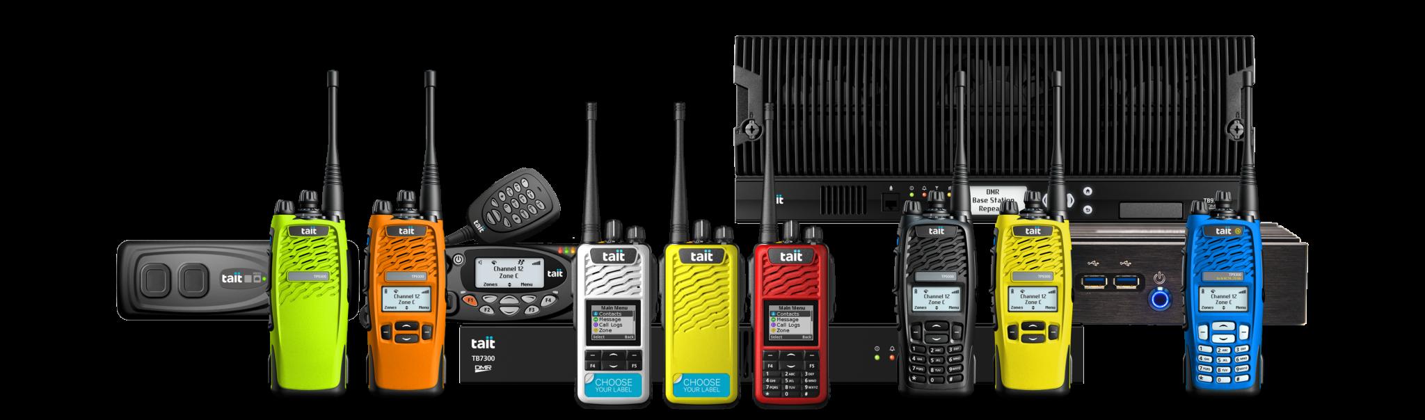 Illustration der Tait Digital Mobile Radio Familie