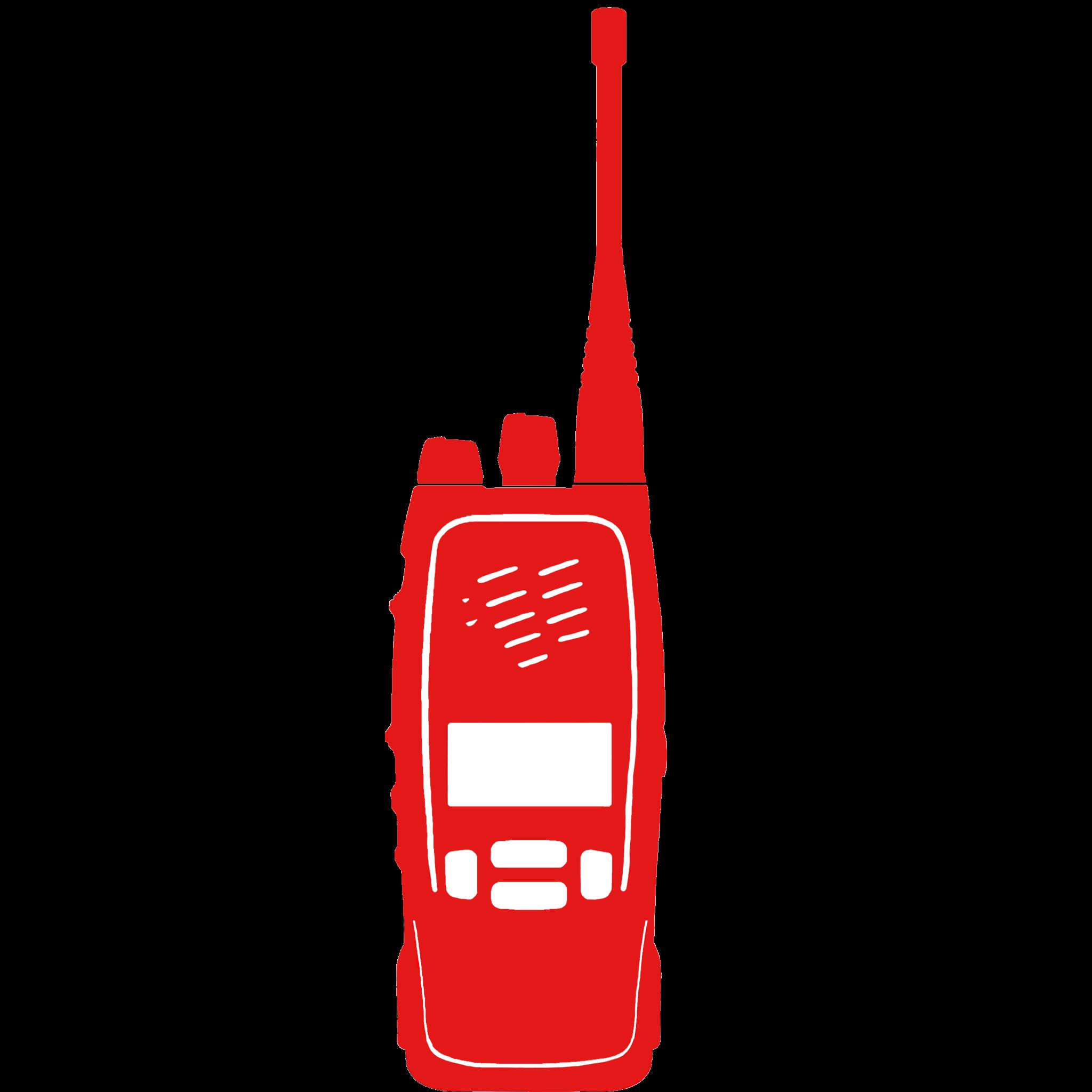 Handfunkgerät Icon für Funksysteme
