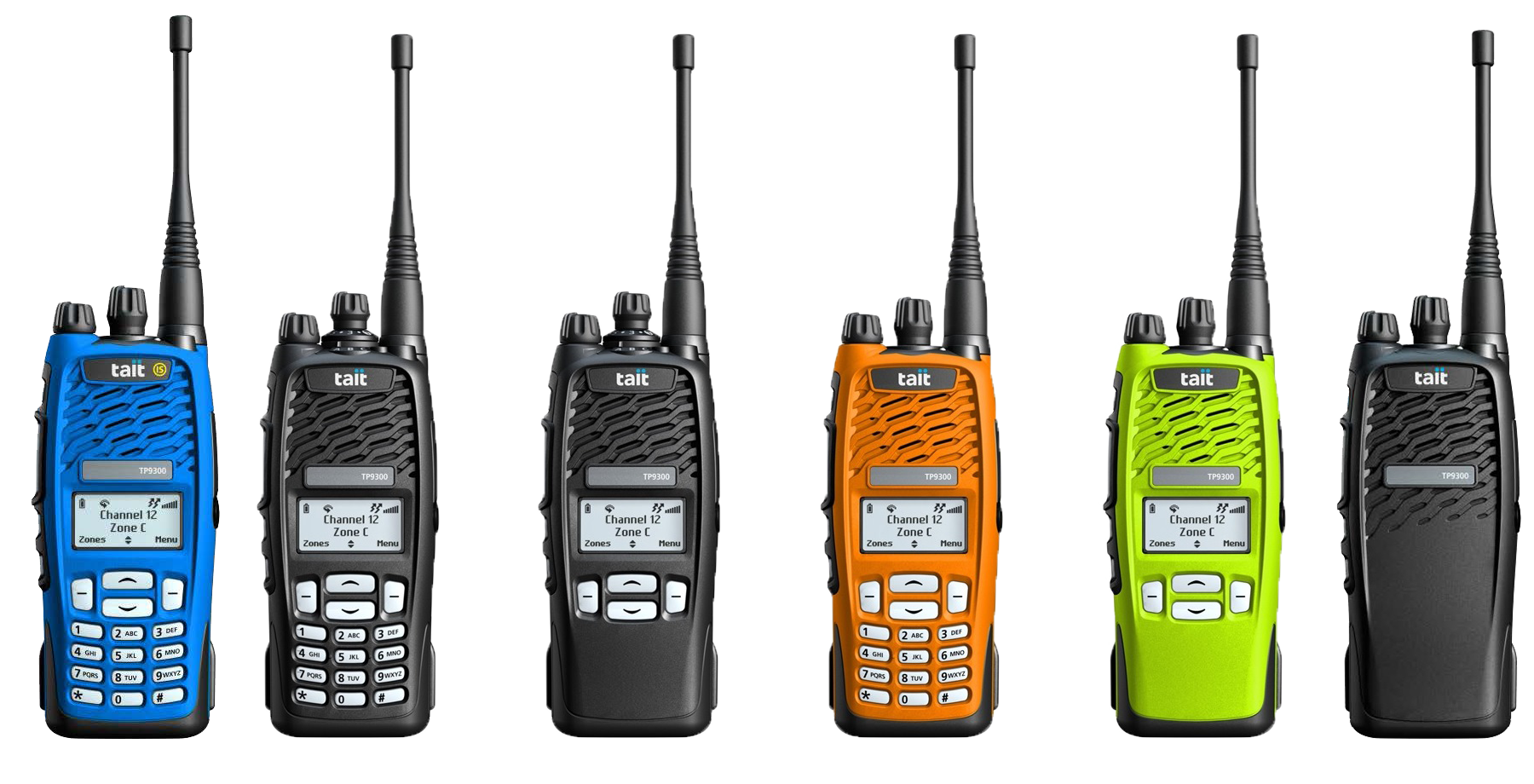 Verschiedene Tait-Geräte der TP9300 Serie