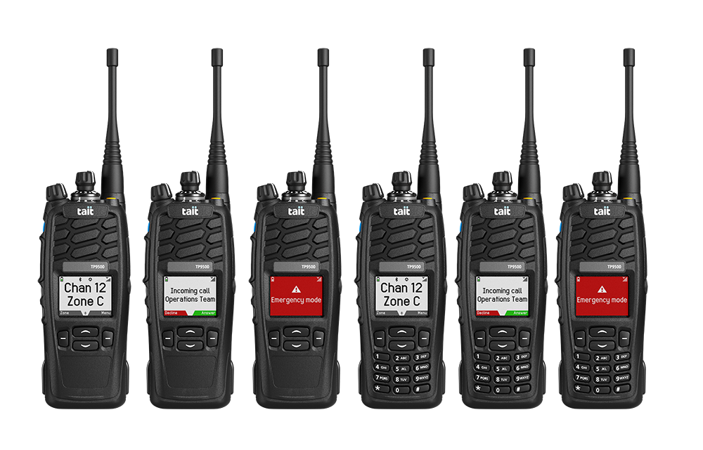 Handfunkgeräte der TP9500 Serie von Tait