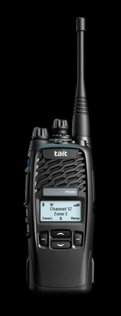 Funkgerät der Marke Tait, Modell TP9300 4-Tasten und Displayanzeige, zum Verkauf und Vermietung Tauglich als Feuerwehrfunkgerät